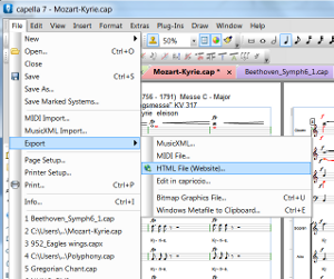 Mozart's Kyrie in Capella software